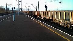 2013-11-21 15.16.59-1 (John W. Davies) Tags: train trains ely locomotive trainspotting spotting class66 ews diesellocomotive elystation dieseltrain trainvideos photting