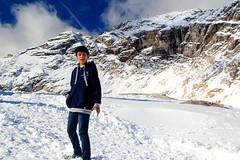 Snow Portrait (Jasmine_Ai) Tags: travel family blue people white mountain snow mountains alps ice germany bavaria