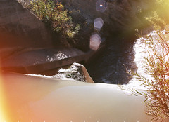 Spill (α RAINYNEPTUNUS ω) Tags: film analog creek utah analogphotography spillway nebo filmphotography nephi