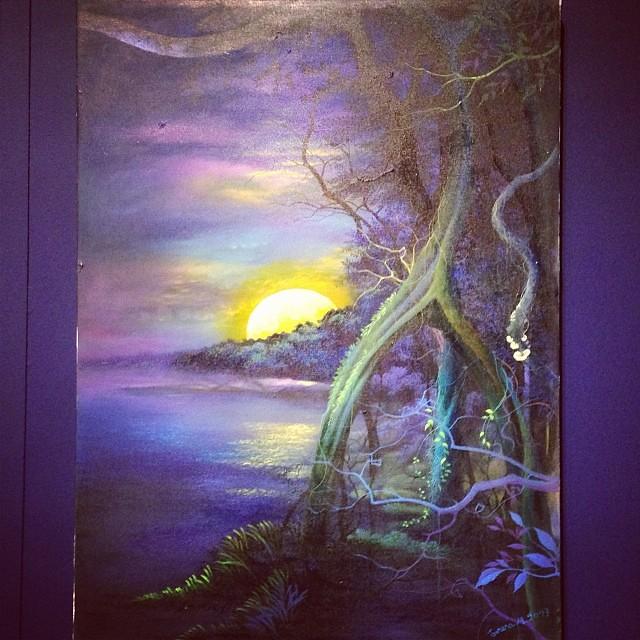 """Teresa Miranda """"Usko Ayar"""" • """"La escuela de las Visiones"""" #art #arteenlima #artinlima #arte #artist #artista #painting #pintura"""