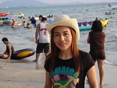 Yupa (Asian.Amour2) Tags: ocean woman cute sexy beach girl beautiful smile asian thailand happy asia pretty dress sweet gorgeous cutie thai brunette oriental siam
