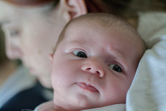 Amelia & Sarah - Close Up (Sarah P Photography) Tags: light portrait baby art beautiful beauty 50mm nikon pix natural newborn amelia emotional poppit photographybaby d3100