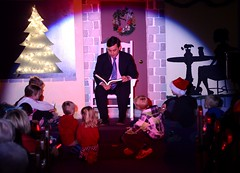 Michael reads to Kids