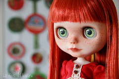 #39 Mery Christmas!! fa (La Chica del Lunar  (lunares)) Tags: doll ooak blythe mm bangs custom rbl freckels modmolly