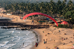 Anjuna Beach, Goa (Bharat Singh Charan) Tags: sunset beach canon ball eos head goa anjuna usm grip ef manfrotto 24105 f4l benro bh1 60d 679b bge9