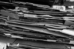 Cardboard Stack (pigpogm) Tags: blackandwhite monochrome birmingham photos cardboard mxpp