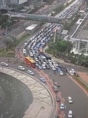 multimodal street (SUTP) Tags: mist indonesia asia publictransit roundabout aerialview jakarta publictransport congestion brt developingcountry rightofway dedicatedlane multimodalstreet