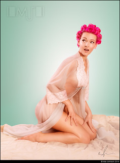 Pinup: In Curlers And Nightie