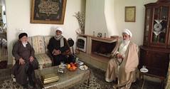 Sheikh with Grand Scholar Sayed Murtadha Radhawi and his cousin, Ayatollah Sheikh Mahmood Alansari