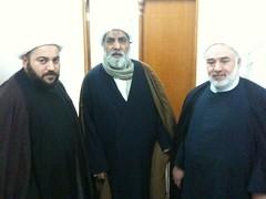 Sheikh with his nephews, Sheikh Rashad and Sheikh Ahmad