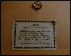 Cash's of Coventry Woven Wren Picture. (nexapt101) Tags: wren woven coventry administration cashs jjcash