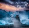 Colours (Kristinn R.) Tags: sea sky ice beach clouds sunrise blacksand iceland nikon jökulsárlón d3x nikonphotography breiðamerkursandur kristinnr