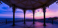 Brighton Bandstand Sunset (jamiepryer) Tags: uk sunset sea england sky iso100 sussex march nikon brighton day purple dusk stones hove f16 nikkor bandstand brightonbeach eastsussex d800 2014 14mm hovebeach skymeetswater nikond800 brightonbandstand march2014 jamiepryer
