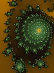 Green fractal spiral (Astronira) Tags: abstract green art digital spiral design graphics pattern decorative background twist fractal helix abstraction curve astronira