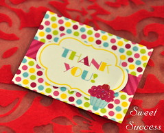 Thank You Card (sweetsuccess888) Tags: cookies cake cupcakes candy desserts popcorn thankyoucard chocolateballs candycrush dessertbar sweetsuccess designercookies eventstyling