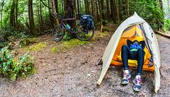 Tired (sridenoursyz) Tags: canada rain britishcolumbia vancouverisland tofino westcoast ucluelet 2014 biketouring
