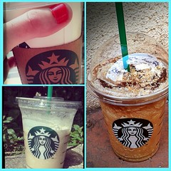 my daily dose of starbucks (adriennf) Tags: coffee caf yummy drink coconut beverage starbucks mocha syrup latte frappuccino