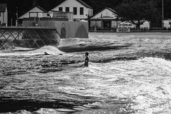 Surf Snowdonia (Roj) Tags: uk blackandwhite bw tourism monochrome sport wales mono surfing recreation dolgarrog canon5dmkii canonef70200mmf28isiiusm photographersontumblr surfsnowdonia
