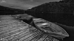 Open- July 29, 2015 (zachary.locks) Tags: park old moon white lake black metal boats wooden dock plum orchard moonlit wv westvirginia moonlight tied chained cy365 zlocks