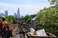 Ravenswood Connector Weekend #7 (cta web) Tags: railroad chicago public train workers construction cta tracks railway transit machines elevated publictransport brownline purpleline ravenswood thirdrail rapidtransit ctabrownline ctapurpleline trackties ravenswoodloop ravenswoodconnector