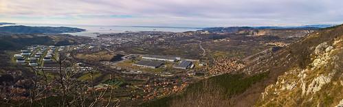 Trieste vista dal monte Carso - Italy