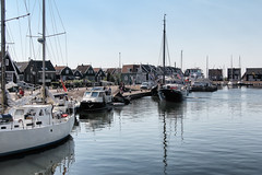 Marken in North Holland, a former island in the Zuiderzee, since 1957 a peninsula. The small fishing town attracts many tourists as it is really beautiful and picturesque (lluunnoo) Tags: marken holland harbour water boat tourism nederland port