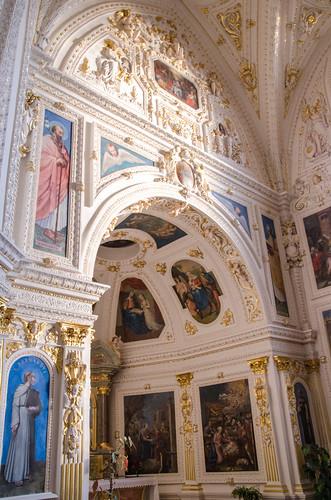 Mur de la chapelle de la Vierge