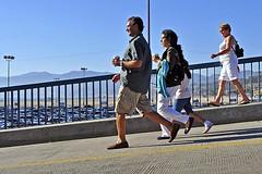 To the Pier (AntyDiluvian) Tags: california losangeles la santamonica beach santamonicabeach santamonicastatebeach santamonicapier coloradoboulevard striding walking