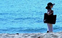 Resort beach (thomasgorman1) Tags: water beach sand person woman hat ocean lanai hawaii