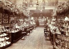 Harrods London 1903 (Peer Into The Past) Tags: peerintothepast blackandwhitephotography perfume vintage history british 1903 departmentstore london harrods