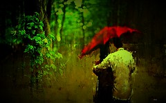 romantic walk (claudiadea131) Tags: s that red umbrella its again contributing superb image every time