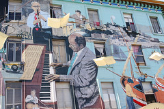 Mural (Elfworld) Tags: sanfrancisco dowtown city usa tourism sightseeing citystreets art streetart painting mural jazz