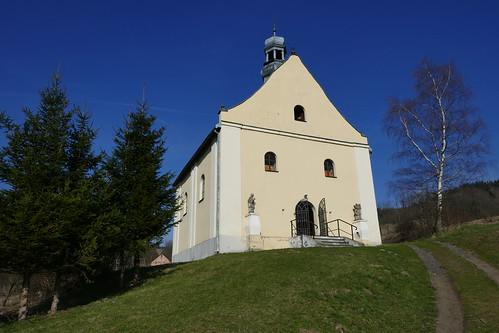Kościół św. Jana Nepomucena w Lutyni od południowego zachodu
