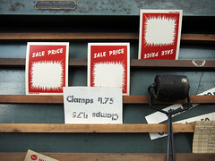 Clamps $1.75 (Depression Press) Tags: chicago ink vintage advertising diy sale antique equipment printing letterpress press vintageadvertising clamps manufacturing autoparts brayer signpress depressionpress lineoscribe signmachine morgansigncompany
