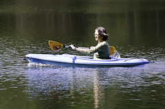 Happy kayaker (agasfer) Tags: park lake state maryland kayaking seneca clopper crek 2013 k01 pentax55300