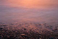 Misty Rocks (schandle) Tags: sunset michigan lakesuperior calumet waterworkspark