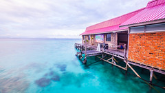 PL0C3533 (brownteddy) Tags: longexposure sunset sea holiday water swim sunrise underwater snorkel getaway dive sunny diving clear borneo slowshutter chalet gypsy sabah kapalai mabul chang lseascape sempoerna unclechang sipdan
