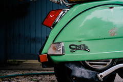 Stella (Chris Gachot) Tags: street stella cambridge color green boston zeiss 35mm vespa fuji streetphotography scooter explore xe1 chrisgachot