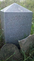 Jacob Geil, 1746-1794, born in Germany, died in Broadway, Virginia, tombstone 1913, photo in 2013 (MennoniteArchivesofVirginia) Tags: virginia jacob broadway elwood mennonite yoder geil