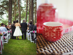 Paul & Lynda's Wedding (maryam-gol) Tags: trees wedding love paul spring diptych ceremony marriage aisle teacups teaceremony weddingdress stjacobs lynda