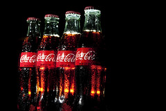 02347-51-All my Dreaming in a Bottle of Coca-Cola-3 (Jim would like to get on Explore this year) Tags: pictures red food color glass blackbackground dark photography lowlight cola bottles photos coke pic canon5d cocacola backlit cokebottles 2013