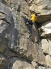 high step (squeezemonkey) Tags: limestone climber swanage leading quarry dancingledge sportsclimbing