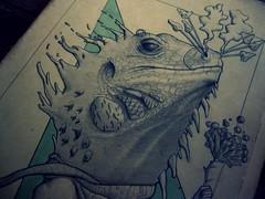 IGUANA 3 detalle (gringowho) Tags: art illustration arte lizard draw dibujo ilustracion gringowho