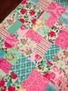 Mel's quilt (sewfunbymonique) Tags: quilt flowerpower happyland jenniferpaganelli