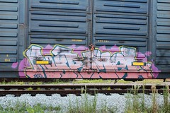 003 (theyeofbugle) Tags: graffiti florida miami boxcar 28 msg csx benching normel benchingsteelgiants