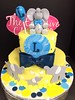 "Elephant Baby Shower Cake • <a style=""font-size:0.8em;"" href=""http://www.flickr.com/photos/40146061@N06/9939893306/"" target=""_blank"">View on Flickr</a>"