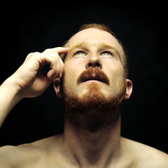 A la recherche du nombre d'or (Mr-Pan) Tags: light portrait man eyes thought lumire picture yeux redhead moustache thinking shooting proportion bearded roux pense barbu recherche nombredor mrpan sessionphoto aureliomonge