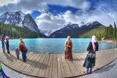 Photo Moments (Cocoabiscuit) Tags: lake canada fisheye alberta banff aquatic lakelouise photomatix cocoabiscuit hdroneraw d7100