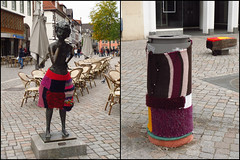 Day 277 (kostolany244) Tags: life city statue germany october europe pavement streetphotography bin hameln day277 guerillaknitting geo:country=germany kostolany244 3652013 canonixus500hs 365the2013edition 113picturesin2013 life2013 4102013