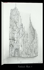 _DSC3285 (Weinstöckle) Tags: kathedrale menschen tor gebäude bleistift zeichnung buntstift
